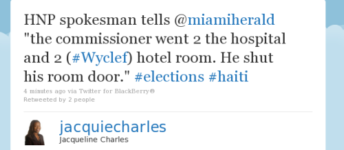 Did @Wyclef really get shot??? #Haiti #elections