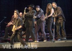 Bruce Springsteen and several members of the E Street Band jam together on stage. Submitted by penumbralcertainty