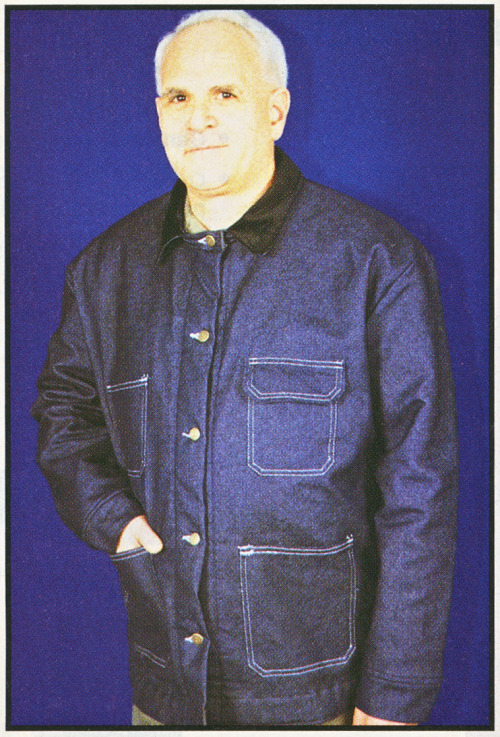 "Inmate Chore Coat, from the Winter 2004 catalog from  ATD-American   Co.:   ""Official     Headquarters For All Of Your  Correctional Needs."" More windows into the world of corrections and  control from this catalog can be found here."