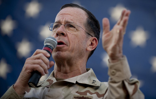 "Adm. Mike Mullen: Operation Odyssey Dawn could end in stalemate Well … that's reassuring. The Chairman of the Joint Chiefs of Staff, Adm. Mike Mullen, said on CBS' ""Face the Nation"" this morning that a stalemate in Libya was possible. He also noted that the mission, by the way, has a short, narrow scope, which, again, contradicts its name. source Follow ShortFormBlog"