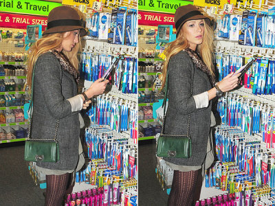 Blake Lively's Casual Rolled Blazer