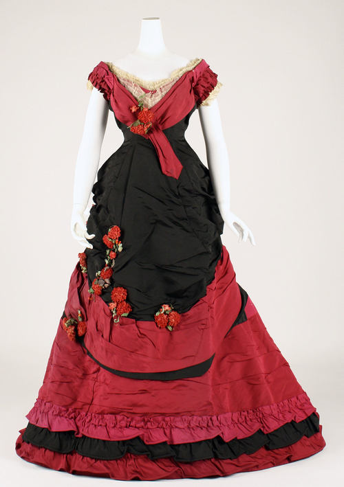 Late 1870s ball gown via The Costume Institute of the Metropolitan Museum of Art