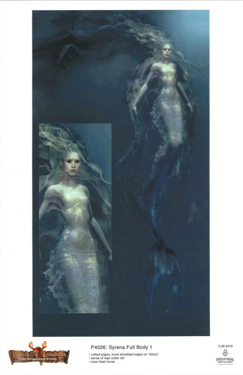 Concept art for the mermaids in POTC 4.