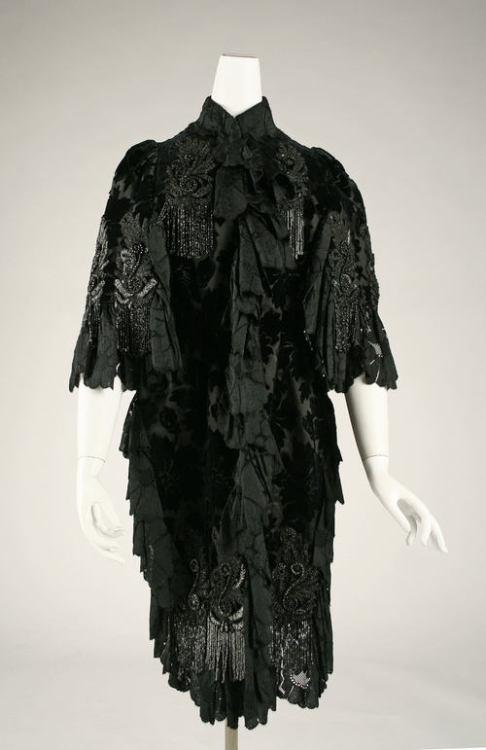 Evening coat ca. 1880-1889 via The Costume Institute of the Metropolitan Museum of Art