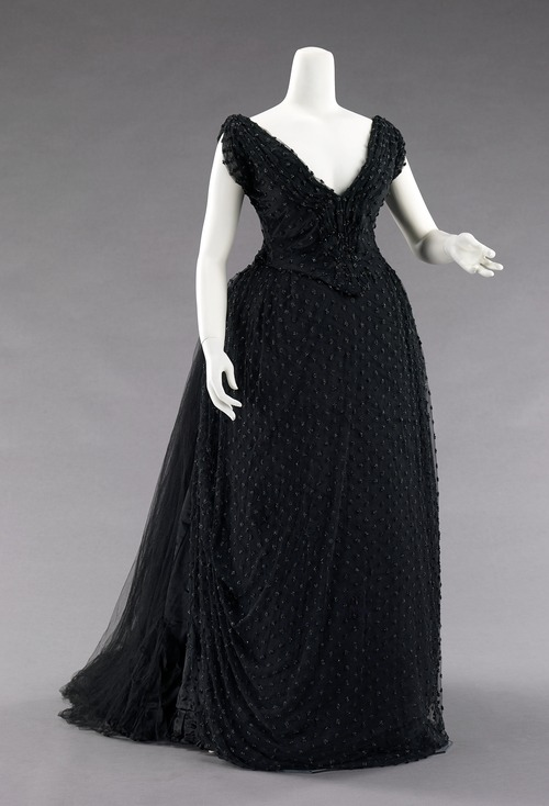 Evening dress ca. 1885 via The Costume Institute of the Metropolitan Museum of Art