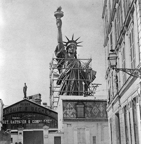 Paris, France: Statue of Liberty in Paris created for shipment to the United States. Photograph. 1887.