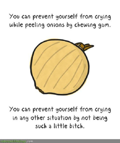 How to prevent from crying