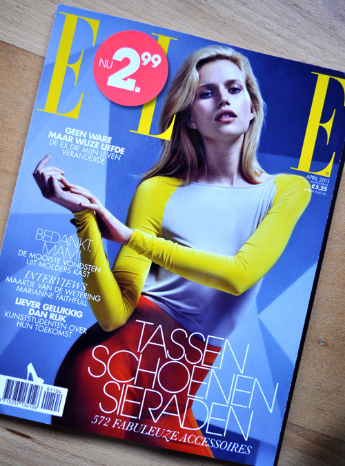 "I AM ON ELLE NL ! Almost can't believe it. It's true. I'm on ELLE. January 2011 is the first time i visited the Amsterdam Fashion Week. Yes, the very first fashion week for me. So much fun and excitement. One day, while waiting for the runway show to start, i was asked if i want to be in the ELLE. It's about the ""Unique Accessory"". Uh… Why not. So we went to a corner to make a picture or actually pictures… Sorry lady, i really need to learn 'how to pose'. I hope she didn't had a hard time to make a good shot of me (i'm such an amateur in this).  The result? Absolutely Freaking Good! She is such a good photographer and also editor. She even mention my style fashion blog! fashiongentrix.com <3  Here i'm wearing:sneakers from GUCCI, black jeans from H&M, blazer from RIVER ISLAND, army green coat from BERSHKA, yellow suitcase ALEX FOLZI, and jewels from SWAROVSKI Men's collections (hide under the coat, sorry…) <3 credits:photography: Daphne van der Voordetext writer: Britte Kramercover: ELLE Magazine NL April 2011"