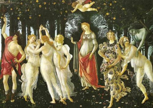 Sandro BotticelliPrimavera, aka Allegory of Springca. 1482Uffizi, Florence (via skeetshoot)
