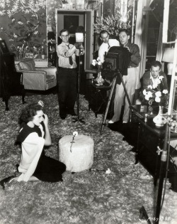 Eugene Robert Richee photographs Dietrich at her home.