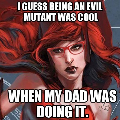 Hipster Superheroines: An Infinite Crisis of Irony - Hipster Scarlet Witch pt.3