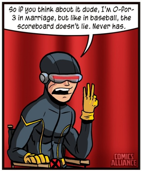 Charlie Sheen Quotes Presented By Superheroes - Cyclops