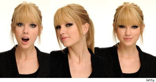 Taylor Swift's cool hairstyle…