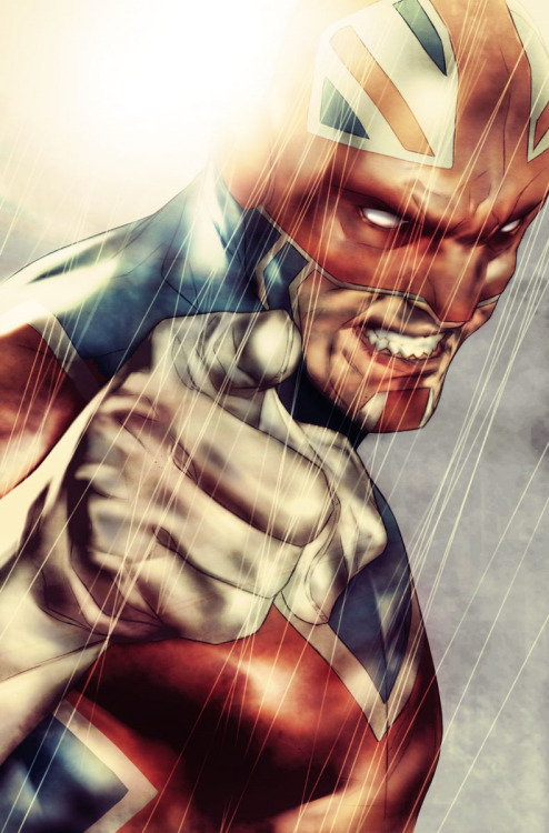 comicartappreciation:  Captain Britain by Ben Oliver