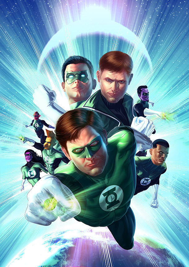 Green Lantern cover for a Brazilian Magazine by Stefani Rennee