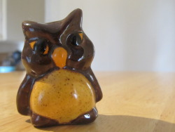 Ceramic owl: 12 cents