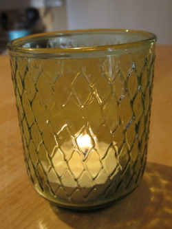 Glass votive: 12 cents