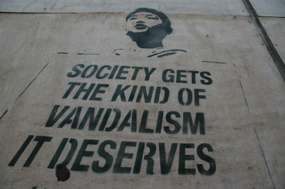"""SOCIETY GETS THE KIND OF VANDALISM … "" Ghent, Belgium Photo: userid_unvaiailable"