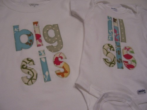 big sis/lil sis; big bro/lil bro shirts :) $14 each