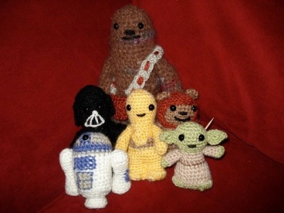 Crocheted Star Wars Figures FTW! haha. I almost died wanting these. I know I'm a nerd, but c'mon, can you deny how cool these look? ~BOO