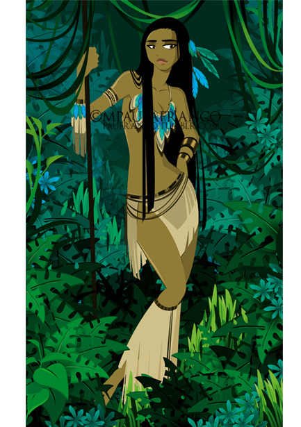A few months ago I've been reading about the real Pocahontas. I must say I didn't liked her story, but I find her character very interesting. So, I decided to create my own version of her. :D Please follow me on Facebook - Twitter - Pinterest