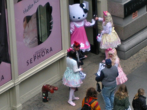 Hello Kitty at Sephora SoHo