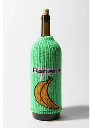 Knitted Banana Cosy Why? Because why not dress up your alcoholic beverages? lol. I would. :P ~BOO