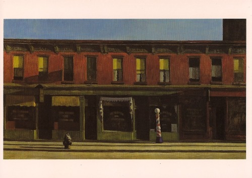 Edward Hopper - Early Sunday Morning postcard. Go see it now at the Whitney Museum in Manhattan!