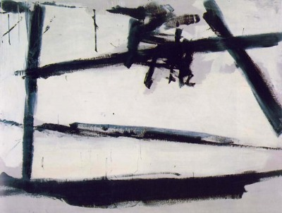 "I've always loved the works of Franz Kline- the picture here doesn't quite capture the ingenuity of his works- you have to imagine this as a massive painting taking up an entire wall. Sure- it's a simplistic representation of a chair, and although in this small picture it does look like a 4 year old could paint better, the gigantic strokes were all painted with 100% purpose, the rough strokes giving the pieces of the 'chair' a more than just dark feel. It looks like nothing, it looks like everything.  I suppose what really captivates me is that this movement or form of art is not about what you paint, but rather how. I could go on and on about the several interpretations of his work, but, alas, my Analytical Chemistry exam awaits my complete attention. Apparently Franz Kline did most of his prep-work on newspaper clippings or bar napkins. ""Spontaneity is practiced"" - the so-called slogan of Abstract Expressionism."