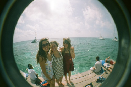 Pier girls.  Belize 2010.