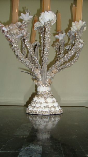 Seashell Chandelier via High Tide Creations on Etsy www.HighTideCreations.Etsy.com