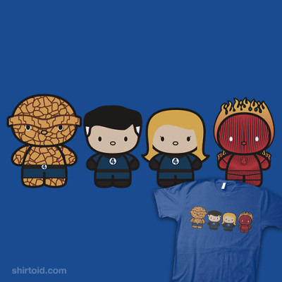 shirtoid:  Chibi-Fi Fantastic Four available at RedBubble  Fifth design on Shirtoid!