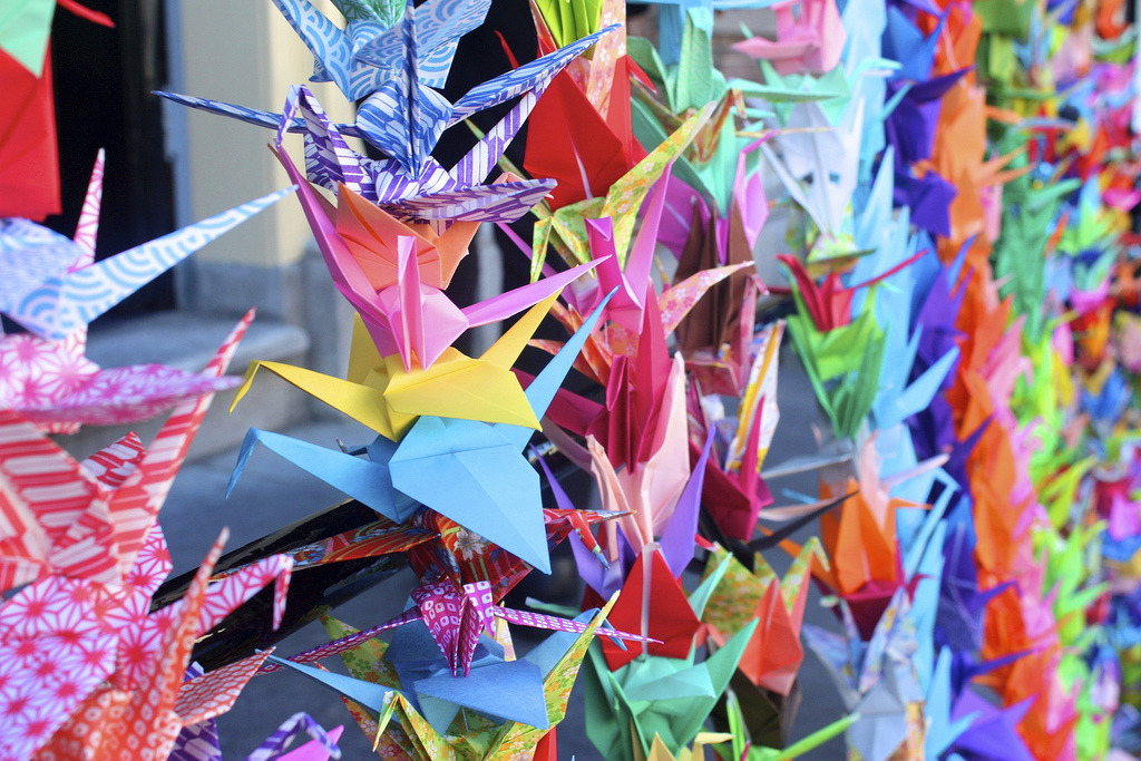 1000 Paper Cranes for Japan @ The Siebold House: 1000 Paper Cranes…