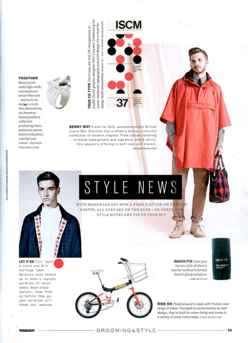Baracuta in Toni & Guy Magazine
