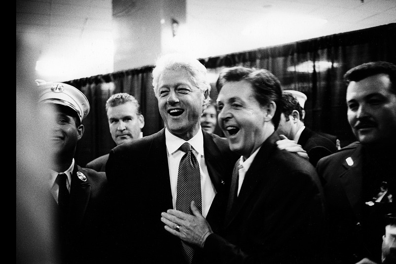 Bill Clinton and Paul McCartney (submitted by ariadavison)