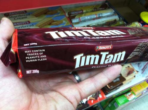 afternoonsnoozebutton:  May contain traces of what?  No no no that's normal don't worry. *coughsweenytoddcough*