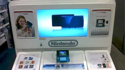 3DS Demo Kiosk Locator If you're as eager to get your hands on the 3DS as I am, you may find this interesting. Nintendo has set up a locator on their website (HERE) to help you find the nearest 3DS demo kiosk in your area. So, if you're sick of looking at blurry photos and video of 3D gameplay online and want to finally experience it in person, give it a shot. The Nintendo 3DS will be released in North America on March 27th.