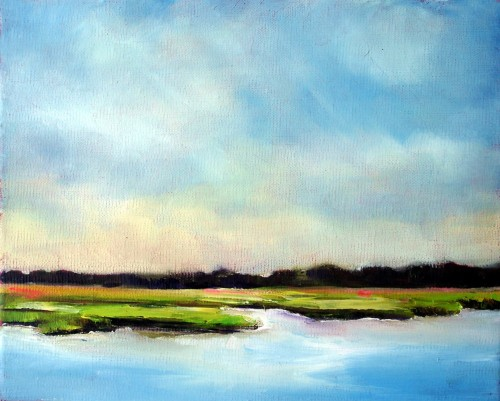 Serene Marsh Landscape by Nancy Hughes Miller