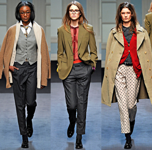 Paul Smith, Fall 2011 Ready-to-Wear photographer: Marcio Madeira (L-R) Betty Adewole, Imogen Newton, Debora Muller