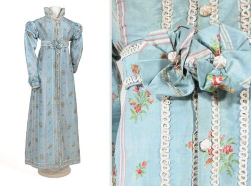 yeoldefashion:  A lovely silk redingote made in the US circa 1815.