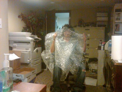 The Office Bubble Wrap Monster. Sometimes I feel that we have too much time on our hands.