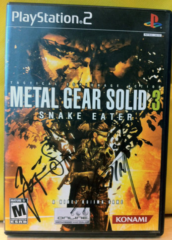 Andrew Vestal has posted an auction for a copy of Metal Gear Solid 3: Snake Eater signed by Hideo Kojima and Yoji Shinkawa.You are bidding on a signed copy of Metal Gear Solid 3: Snake Eater for the Sony PlayStation 2. This is the US version of the game. The box has been signed by Hideo Kojima, Director/Producer/Writer and Yoji Shinkawa, Character Designer and Mechanical Designer. Hideo Kojima needs no introduction – the mastermind responsible for the Metal Gear series is one of the most famous developers in the industry. Yoji Shinkawa is the artist responsible for the character design and mechanical designs of the entire Metal Gear Solid series, and the creator of such iconic designs as Metal Gear Rex and the Shagohod.The auction closes on Mar 27, 2011 at 15:51:59 PDT. All proceeds will be donated to Global Giving.