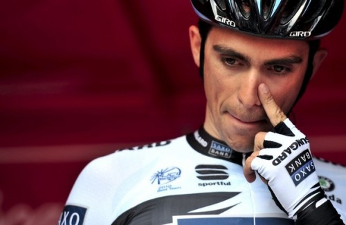 Alberto Contador of Team Saxo Bank (via Photo from Getty Images)