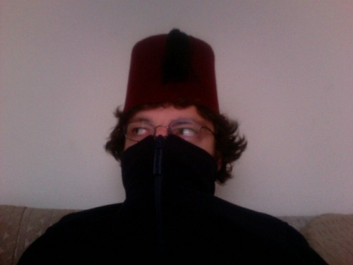 shlabam:  From now on, I live in the space between my fez and whatever fleece I can find.  Jacob Rubin in a Fez. Don't question it.