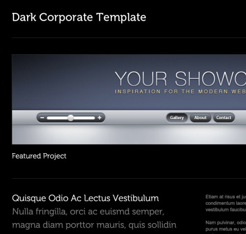 Dark Corporate Template By Adrian Pelletier Download