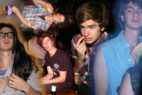 envyadams:  Drunk Andrew Garfield: a collage  oh ag.