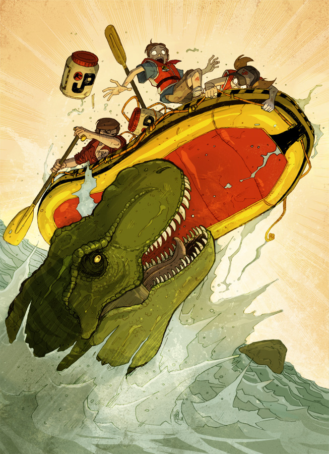 Jurassic Park: The River by Vanoxymore Like when Jaws, T-Rex, pops out of the water