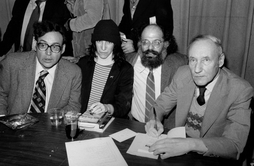 madnessisfreedrom:  Carl Solomon, Patti Smith, Allen Ginsberg and William S. Burroughs