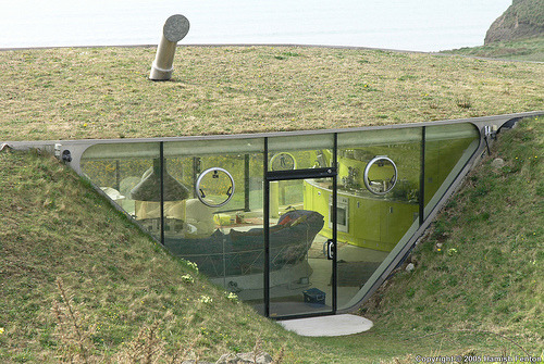 architectureofdoom:  Mulator underground house, Wales