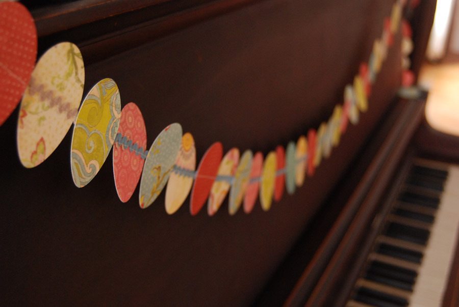 vintagerosegarden:  Easter Egg Garland